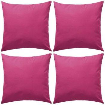 Poduszki ogrodowe vidaXL, różowe, 4 szt., 80x80 cm-vidaXL