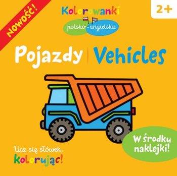 Pojazdy. Kolorowanki polsko-angielskie z naklejkami-Opracowanie zbiorowe