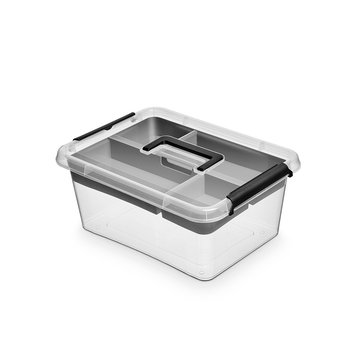 Pojemnik do przechowywania z rączką ORPLAST Box, 12.5 l + insert 40x30 cm-ORPLAST