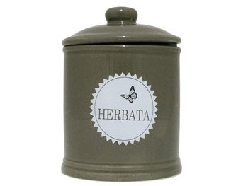 Pojemnik na herbatę EH EXCELLENT HOUSEWARE Traditional, szary, 15x11 cm-EH Excellent Houseware