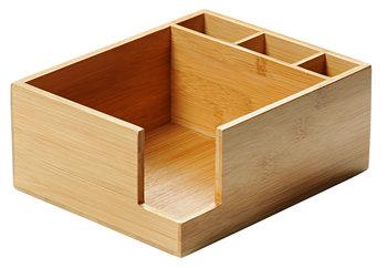 Pojemnik na serwetki z pudełkiem na sztućce, KESPER, 21,5x18x9 cm-Kesper