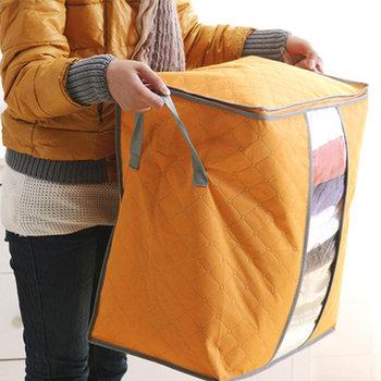 Pojemnik / pokrowiec na pościel / koc / ubrania - pomarańczowy, średni-HEDO