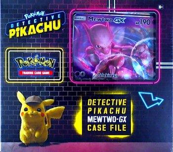 Pokemon TCG Detective Pikachu Character Mewtwo-GX Case File Zestaw Kart