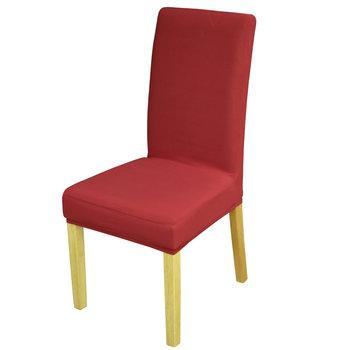 Pokrowiec na krzesło TESS Spandex, bordowy-TESS