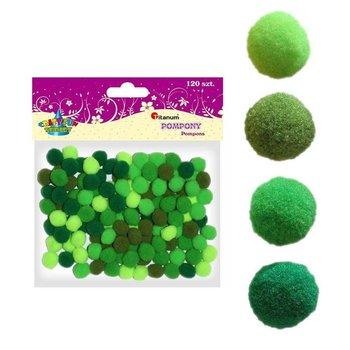 Poliestrowe pompony 10mm 120szt zielonej CRAFT-FUN - zielone-Titanum