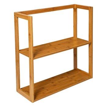 Półka do łazienki modułowa, 2 poziomy, bambus-5five Simple Smart