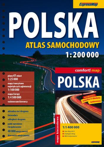 atlas samochodowy polski: