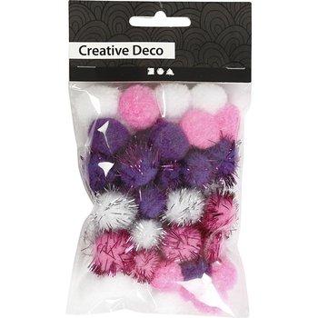 Pompony, Zestaw różowy-Creativ Company A/S