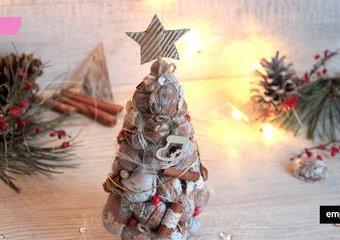 Pomysł na orzechową choinkę - oryginalną, świąteczną dekorację