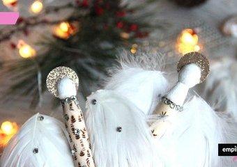 Pomysł na świąteczne aniołki DIY