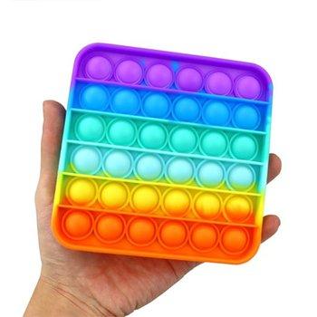 Pop it, zabawka sensoryczna antystresowa Push Pop Bubble gniotek, kwadrat, multi kolor-Pop it