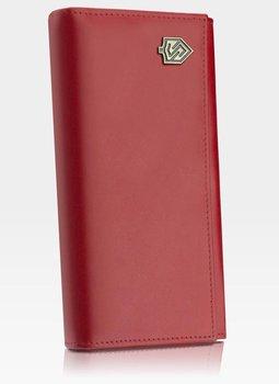 Portfel Damski Skórzany STEVENS Zasobnik Czerwony Z03-210 RFID - czerwony-Stevens