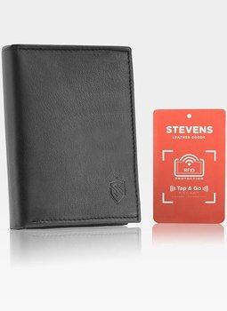 Portfel Męski Skórzany STEVENS Czarny RFID Secure TAP&GO-Stevens