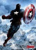 Posterplate, plakat Captain America - Marvel Dark Edition