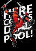Posterplate, plakat Here he comes - Deadpool Merc with a Mouth