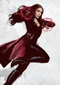 Posterplate, plakat Scarlet Witch - Civil War United We Stand