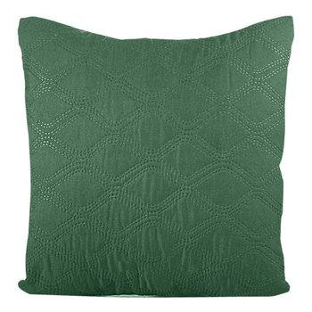 Poszewka EUROFIRANY, zielono-srebrna, 40x40 cm-Eurofirany