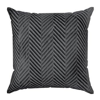 Poszewka na poduszkę czarna w rozmiarze 45x45 z miękkiej tkaniny velvet-Eurofirany