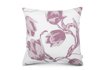 Poszewka na poduszkę FLORE kremowy/fioletowy, 45x45 , 40% poliester/60% bawełna -Konsimo