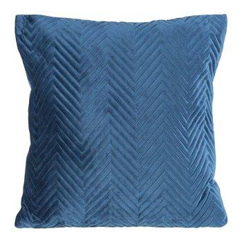 Poszewka na poduszkę granatowa w rozmiarze 45x45 z miękkiej tkaniny velvet-Eurofirany