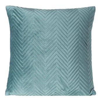 Poszewka na poduszkę miętowa w rozmiarze 45x45 z miękkiej tkaniny velvet-Eurofirany