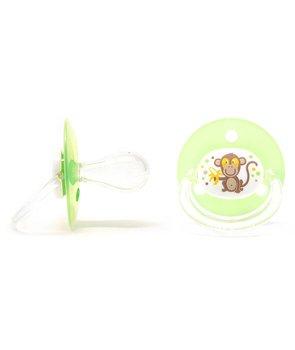 Poupy, Smoczek okrągły, silikonowy, 4m+, Zielony, 2 szt.-Poupy
