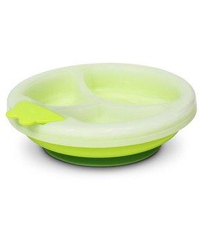 Poupy, Talerzyk z przyssawką utrzymujący ciepło, 4m+, Zielony-Poupy