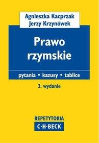 Prawo rzymskie. Pytania, kazusy, tablice-Kacprzak Agnieszka, Krzynówek Jerzy