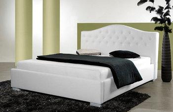 Princess łóżko Tapicerowane Z Pojemnikiem Białe 140x200 Cm