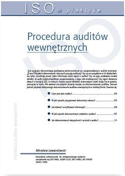 Procedura auditów wewnętrznych                      (ebook)