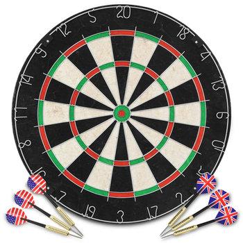 Profesjonalna, sizalowa tarcza do darta z 6 rzutkami-vidaXL