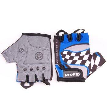 Profex, Rękawice rowerowe dziecięce, niebieski-PROFEX