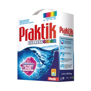 Proszek do prania tkanin kolorowych PRAKTIK Express Color, 4,4 kg-Praktik