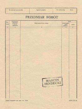 Przedmiar robót-Sendecki Marcin