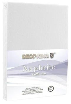 Prześcieradło z gumką Nephrite, białe, 160-180x200 cm-FLHF S.A.