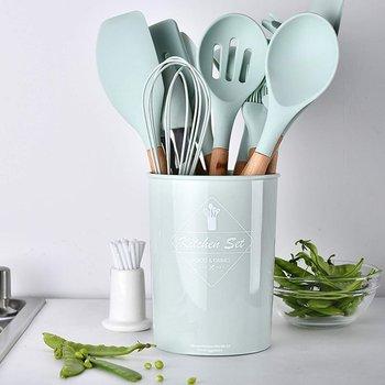 Przybory kuchenne - zestaw 11 elementów- zielone-HEDO