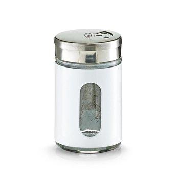 Przyprawnik szklany ZELLER z wizjerem, biały, 8,5 cm-Zeller