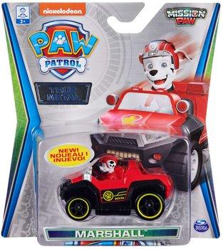 Psi Patrol Marshall, metalowy pojazd z figurką Mission Paw True Metal-Psi Patrol