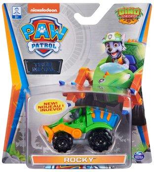 Psi Patrol, metalowy pojazd z figurką Rocky Dino Rescue