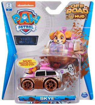Psi Patrol, metalowy pojazd z figurką Skye Off Road Mud