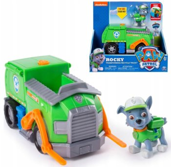Psi Patrol, pojazd transformujący śmieciarka z figurką Rocky-Psi Patrol