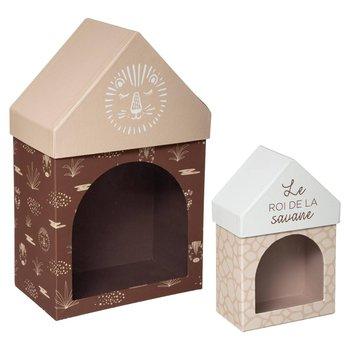 Pudełka dekoracyjne domki SAFARI, 2 sztuki-Atmosphera for kids