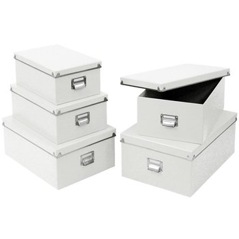 Pudełka do przechowywania ZELLER, biały, 5 szt.-Zeller