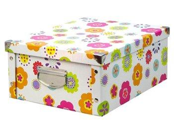 Pudełko do przechowywania ZELLER, kwiatki, 17x40x33 cm-Zeller