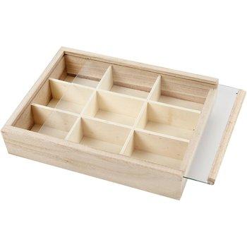 Pudełko drewniane z przegródkami-Creativ