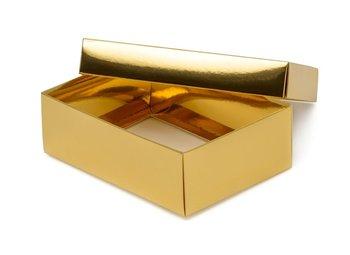 Pudełko laminowane 140x100x47mm złote