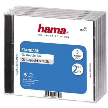 Pudełko na CD/DVD HAMA, podwójne, 5 szt.-Hama