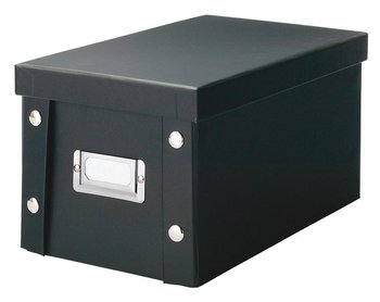 Pudełko na płyty CD ZELLER, czarne, 15x28x16,5 cm-Zeller