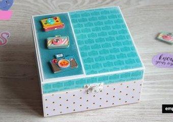 Pudełko na zdjęcia z wakacji - ozdób je papierami z kolekcji Rosie's studio