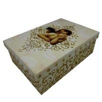 Pudełko ozdobne, Anioły 26x18x9,5 cm